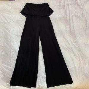 Black Strapless Jumpsuit Size Medium